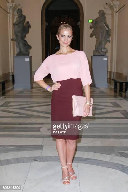 German presenter Kerstin Linnartz during the European Fashion Award FASH at Bode Museum on July 03 2017 in Berlin Germany