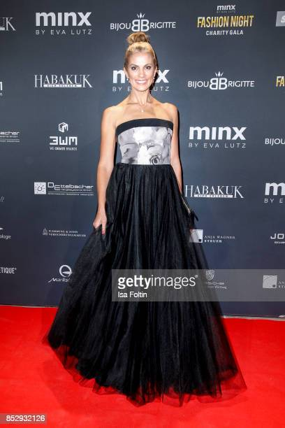 German presenter Kerstin Linnartz during the Minx Fashion Night in favour of 'Sauti Kuu' of Auma Obama at Wuerzburger Residenz on September 23 2017...