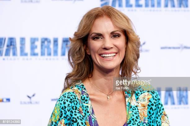 German presenter Kerstin Linnartz during the 'Valerian Die Stadt der Tausend Planeten' premiere at CineStar on July 19 2017 in Berlin Germany