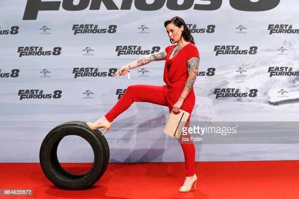 German presenter Lina van de Mars attends the premiere for the film 'Fast Furious 8' at Sony Centre on April 4 2017 in Berlin Germany