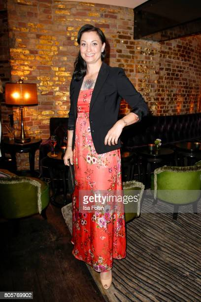 German presenter Lina van de Mars during the host of Annabelle Mandengs Ladies Dinner at Hotel Zoo on July 2 2017 in Berlin Germany