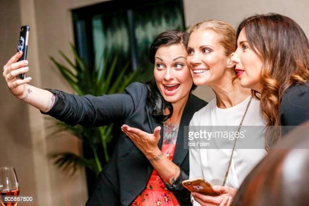 German presenter Lina van de Mars German presenter Kerstin Linnartz and German presenter Alexandra Polzin during the host of Annabelle Mandengs...