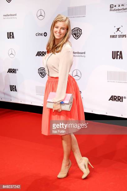 German presenter Nina Eichinger attends the First Steps Awards 2017 at Stage Theater on September 18 2017 in Berlin Germany