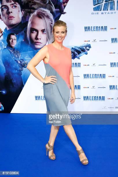 German presenter Nina Eichinger during the 'Valerian Die Stadt der Tausend Planeten' premiere at CineStar on July 19 2017 in Berlin Germany