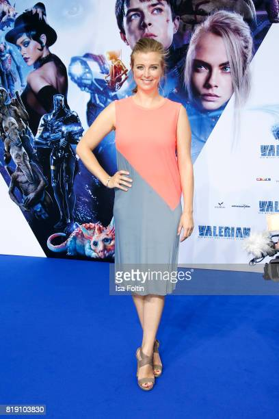 German presenter Nina Eichinger during the 'Valerian Die Stadt der Tausend Planeten' premiere at CineStar on July 19 2017 in Berlin Germany
