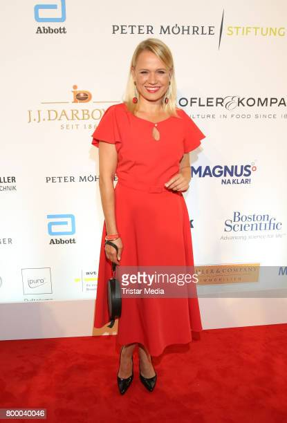 German presenter Nova Meierhenrich attend the Charity Evening 'Das kleine Herz im Zentrum' at Curio Haus on June 22 2017 in Hamburg Germany