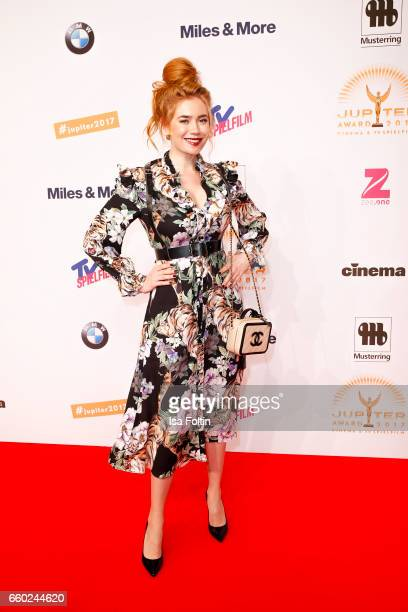 German presenter Palina Rojinski attends the Jupiter Award at Cafe Moskau on March 29 2017 in Berlin Germany
