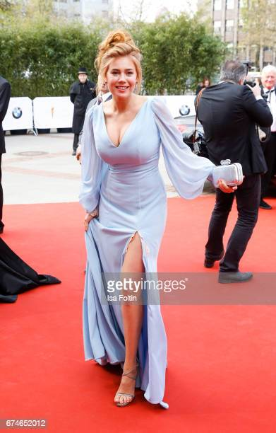 German presenter Palina Rojinski during the Lola German Film Award red carpet arrivals at Messe Berlin on April 28 2017 in Berlin Germany