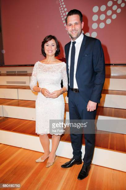 German presenter Sandra Maischberger and german presenter Matthias Killing attend the Victress Awards Gala on May 8 2017 in Berlin Germany