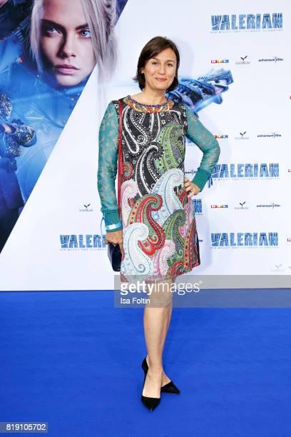 German presenter Sandra Maischberger during the 'Valerian Die Stadt der Tausend Planeten' premiere at CineStar on July 19 2017 in Berlin Germany