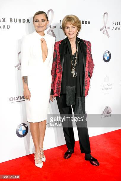 German presenter Sophia Thomalla and Christa Maar attend the Felix Burda Award 2017 at Hotel Adlon on May 14 2017 in Berlin Germany