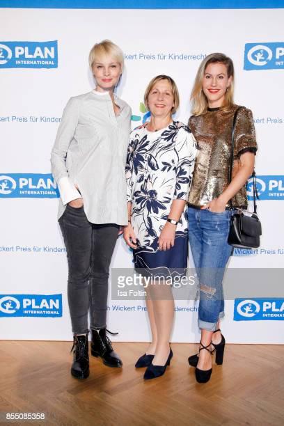 German presenter Susann Atwell Maike Roettger CEO Plan International Germany and German actress Wolke Hegenbarth attend the Ulrich Wickert Award For...