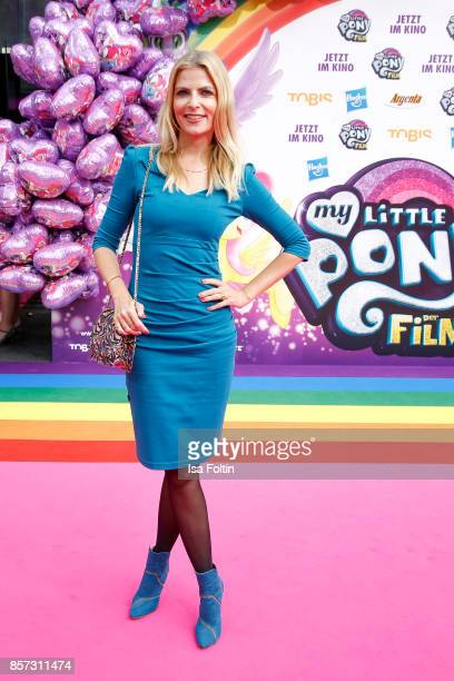 German presenter Tanja Buelter attends the 'My little Pony' Premiere at Zoo Palast on October 3 2017 in Berlin Germany
