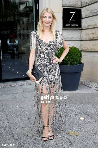 German presenter Tanja Buelter during the host of Annabelle Mandengs Ladies Dinner at Hotel Zoo on July 2 2017 in Berlin Germany