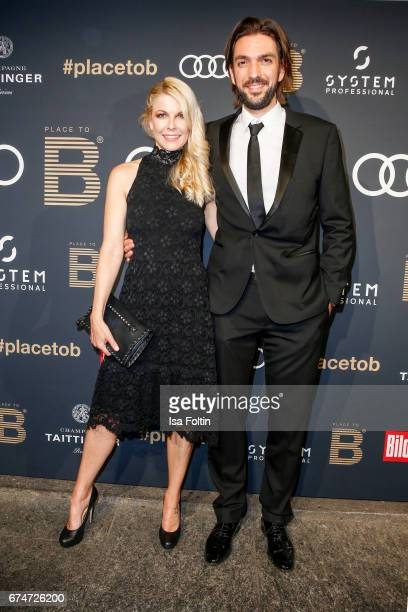 German presenter Tina Kaiser and her partner producer Max Wiedemann attend the Place To Be Party after the Lola German Film Award on April 28 2017 in...