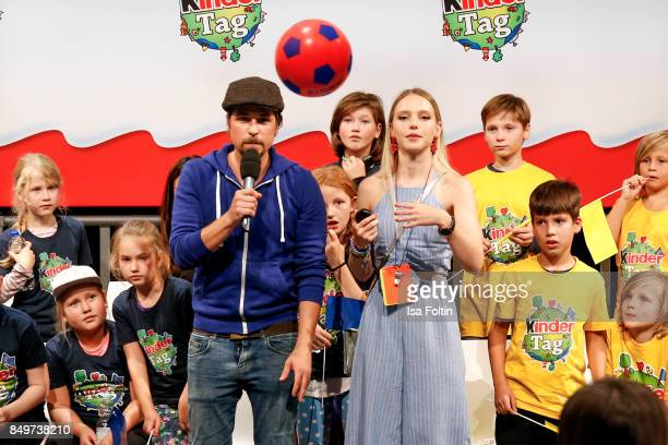 German presenter Tommy Scheel and German actress and singer Lina Larissa Strahl during the KinderTag to celebrate children's day on September 19 2017...