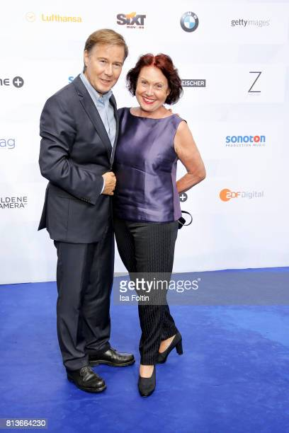 German presenter Ulrich Meyer and his wife Georgia Tornow attend the summer party 2017 of the German Producers Alliance on July 12 2017 in Berlin...