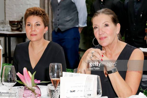 German presenter Vanessa Blumhagen and German actress Katy Karrenbauer during the host of Annabelle Mandengs Ladies Dinner at Hotel Zoo on July 2...