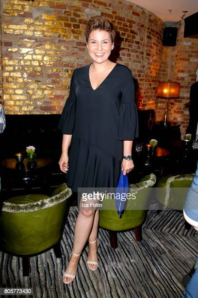 German presenter Vanessa Blumhagen during the host of Annabelle Mandengs Ladies Dinner at Hotel Zoo on July 2 2017 in Berlin Germany