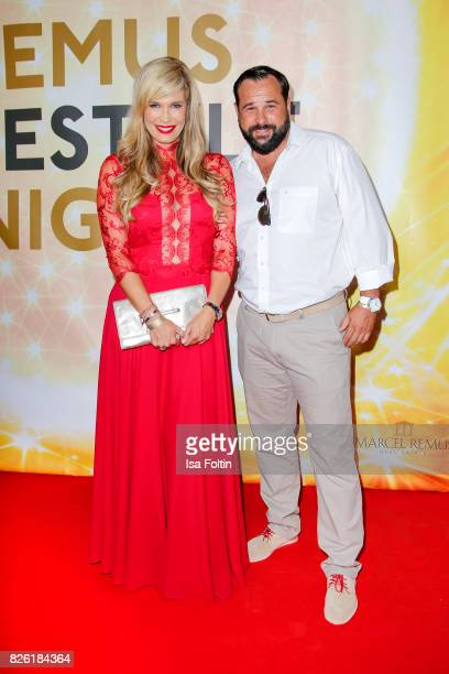 German presenter Verena Wriedt and her husband Thomas Schubert attend the Remus Lifestyle Night on August 3 2017 in Palma de Mallorca Spain