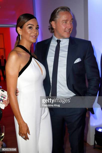 German presenter Verona Pooth and her husband Franjo Pooth attend the 'Bertelsmann Summer Party' at Bertelsmann Repraesentanz on June 22 2017 in...
