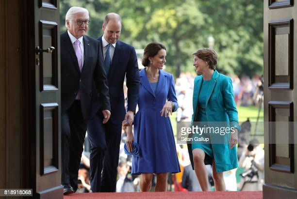 German President FrankWalter Steinmeier Prince William Duke of Cambridge Catherine Duchess of Cambridge and German First Lady Elke Buedenbender enter...