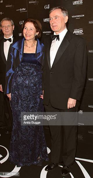 German President Horst Koehler and his wife Eva Koehler attend the annual German media ball 'Bundespresseball' on November 23 2007 in Berlin Germany