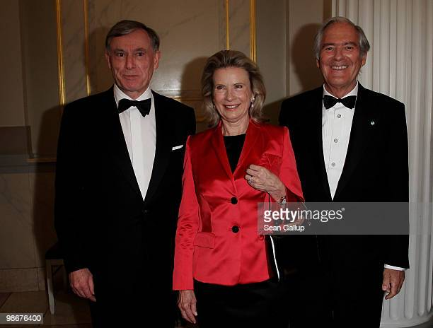 German President Horst Koehler Karin Berger and Roland Berger attend the Roland Berger Award for Human Dignity 2010 at the Konzerthaus am...