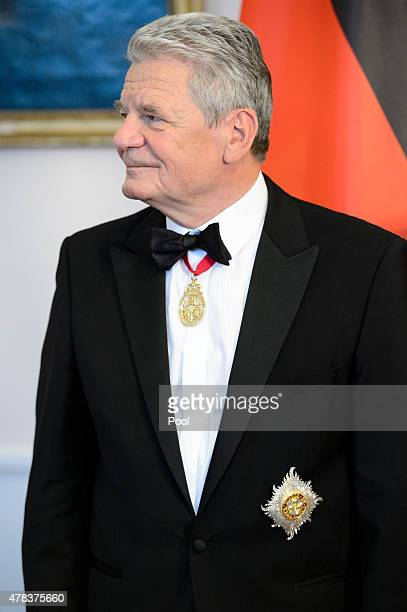 German President Joachim Gauck attends a State Banquet on day 2 of a four day State Visit on June 24 2015 in Berlin Germany