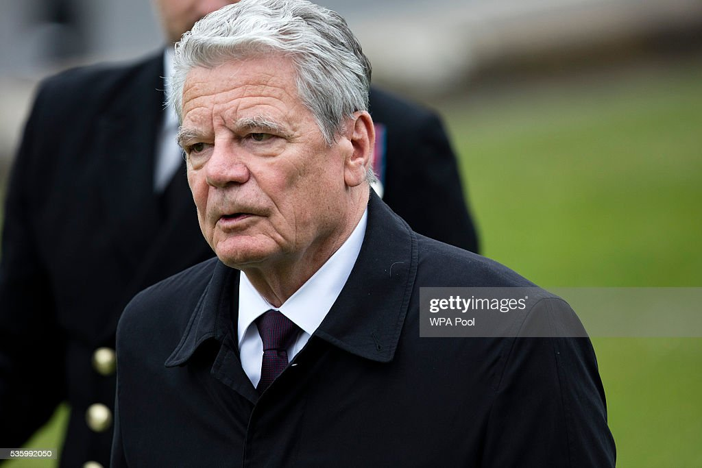 German President <a gi-track='captionPersonalityLinkClicked' href=/galleries/search?phrase=Joachim+Gauck&family=editorial&specificpeople=2077888 ng-click='$event.stopPropagation()'>Joachim Gauck</a> attends commemorations of the 100th anniversary of the Battle of Jutland at St Magnus Cathedral on May 31, 2016 in Kirkwall, Scotland. The event marks the centenary of the largest naval battle of World War One where more than 6,000 Britons and 2,500 Germans died in the Battle of Jutland fought near the coast of Denmark on 31 May and 1 June 1916.