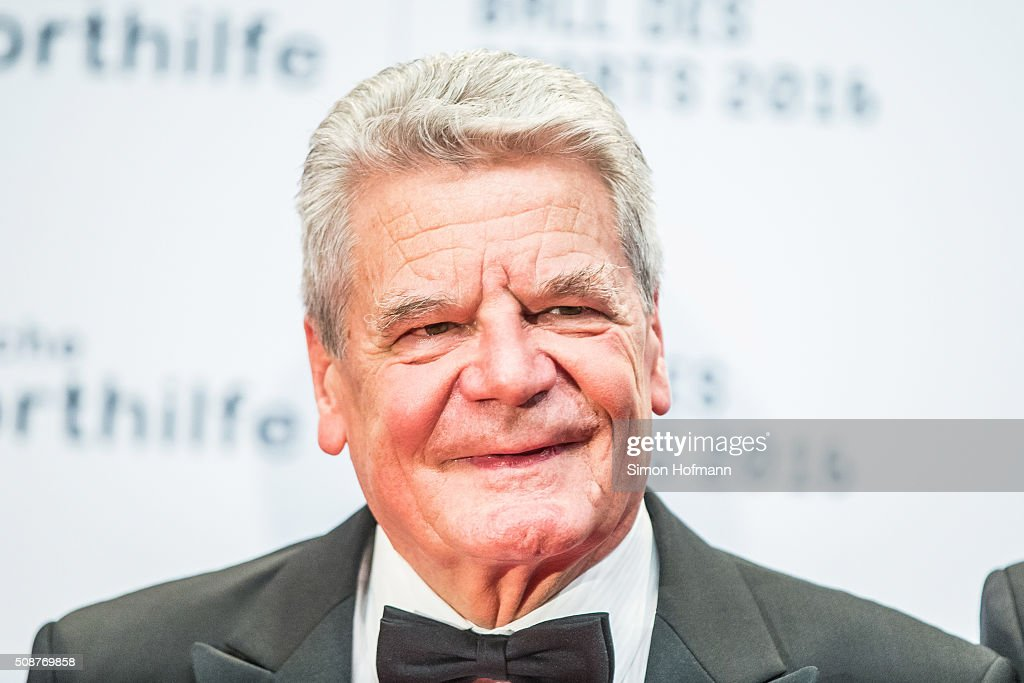 German President <a gi-track='captionPersonalityLinkClicked' href=/galleries/search?phrase=Joachim+Gauck&family=editorial&specificpeople=2077888 ng-click='$event.stopPropagation()'>Joachim Gauck</a> attends German Sports Gala 'Ball des Sports 2016' on February 6, 2016 in Wiesbaden, Germany.
