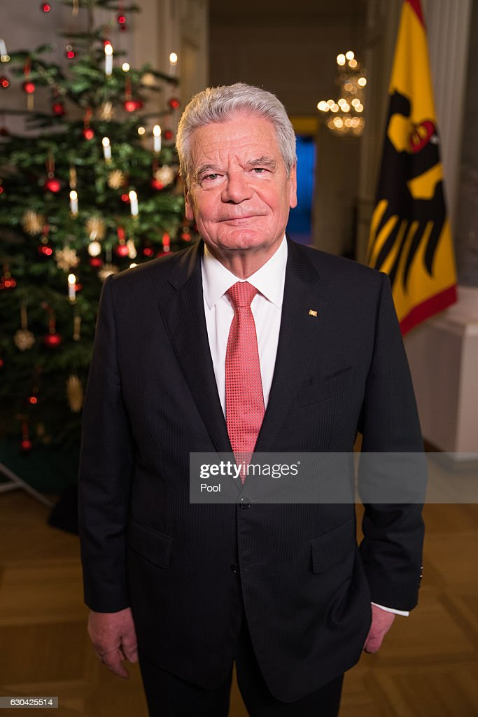 German President Joachim Gauck poses for a photo after he recorded his annual Christmas television address to the nation on December 22, 2016 in Berlin, Germany. Gauck, a former pastor, usually highlights the events and challenges of the year in his annual address broadcast on December 24th but also looks to what Germany will face in the coming year.