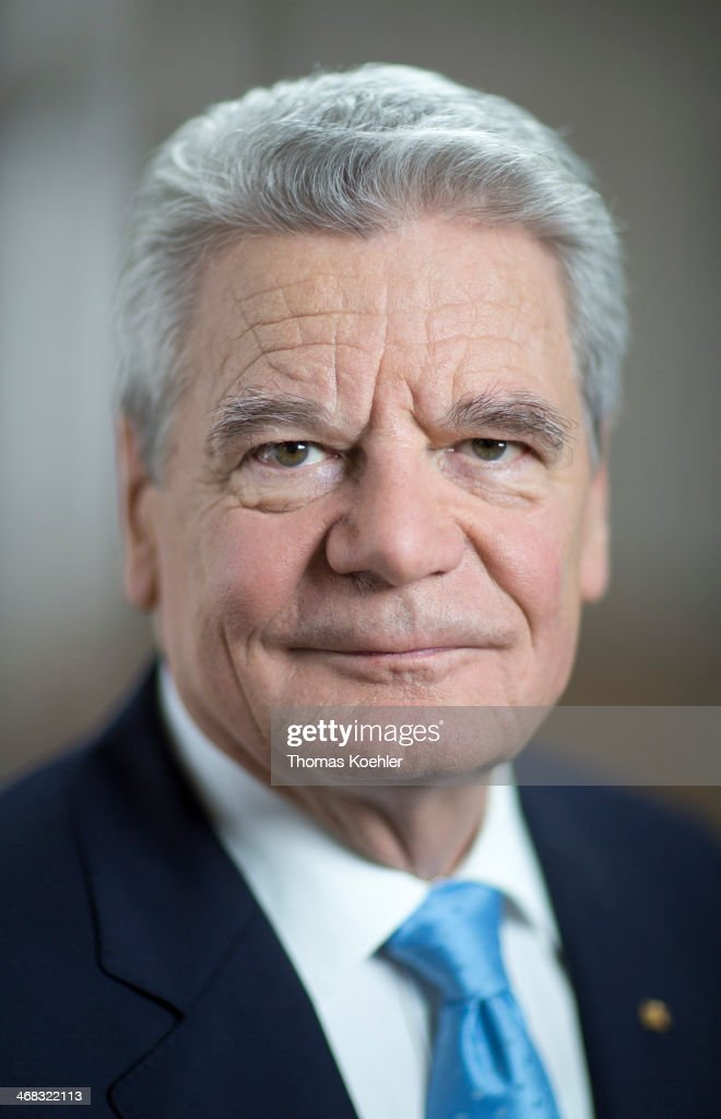 German President <a gi-track='captionPersonalityLinkClicked' href=/galleries/search?phrase=Joachim+Gauck&family=editorial&specificpeople=2077888 ng-click='$event.stopPropagation()'>Joachim Gauck</a> poses for a photograph at Bellevue Palace on January 15, 2014 in Berlin, Germany.