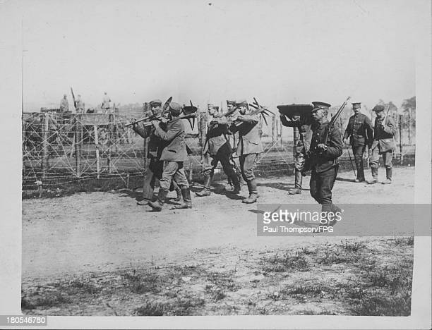 German prisoners of war at a camp near Aldershot England circa 19141918