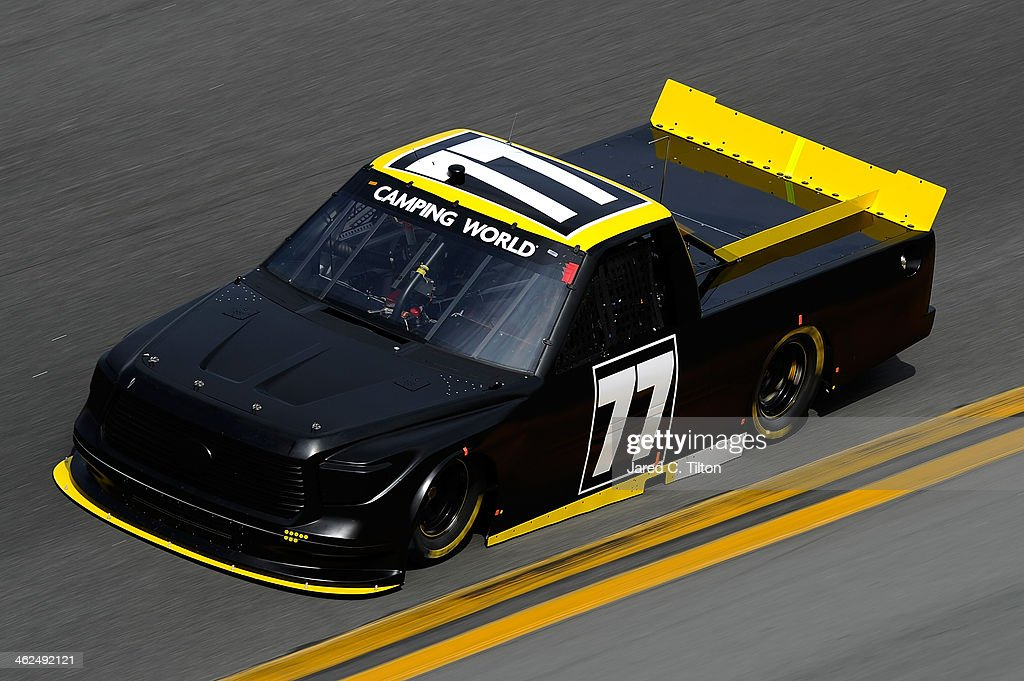 German Quiroga drives the #77 Red Horse Racing Toyota during NASCAR Preseason Thunder at Daytona International Speedway on January 13, 2014 in Daytona Beach, Florida.