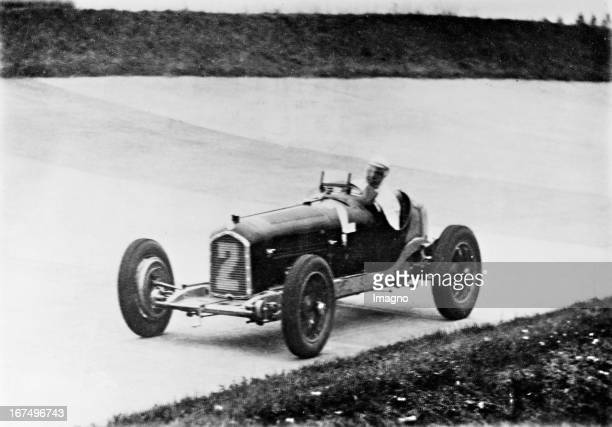 German racing driver Rudolf 'Karratsch' Caracciola wins the race for the Grand Prix of Germany at the Nürburgring 18th July 1932 Photograph Rudolf...