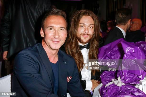 German Radio presenter Jochen Bendel and Youtuber and Influencer Riccardo Simonetti during the Kempinski Fashion Dinner on May 23 2017 in Munich...