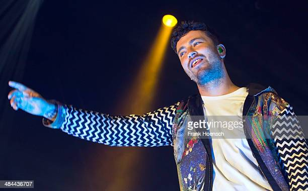 German rapper Marten Laciny aka Marteria performs live during a concert at the MaxSchmelingHalle on April 12 2014 in Berlin Germany