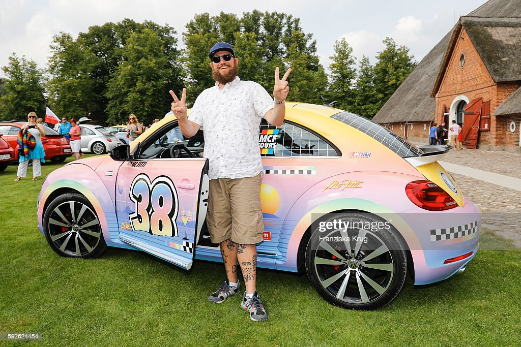 German Rapper MC Fitti in front of his special designed Beetle during the 12th Beetle Sunshine Tour To Travemuende the 12th Beetle Sunshine Tour on...