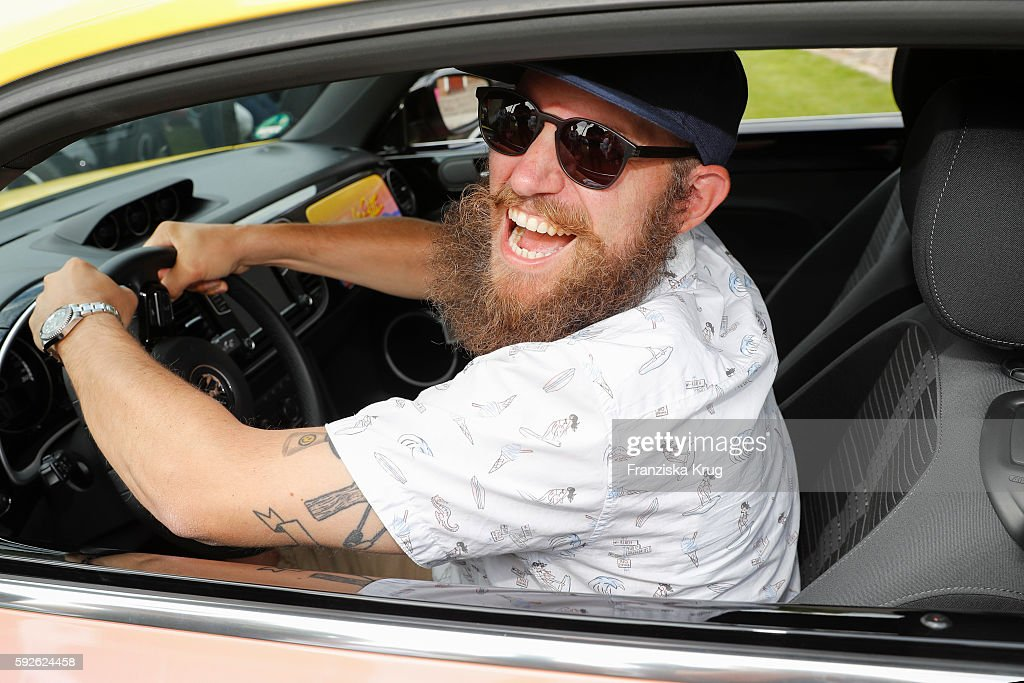 German Rapper MC Fitti in his special designed Beetle during the 12th Beetle Sunshine Tour To Travemuende the 12th Beetle Sunshine Tour on August 20...