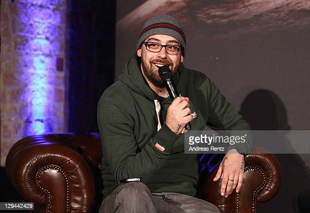 German rapper Sido attends a press conference to present with Bushido their first joint music project '23' on October 17 2011 in Berlin Germany