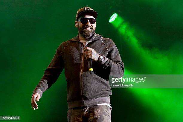 German rapper Sido performs live during The Stars For Free 2015 concert at the Kindlbuehne Wuhlheide on August 29 2015 in Berlin Germany