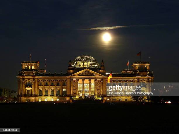German Reichstag Parliament at night