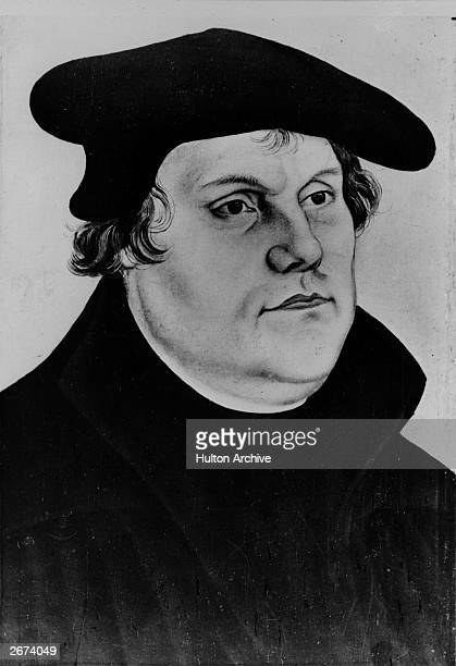 German religious reformer Martin Luther wearing a traditional hat1532 Original Artwork By Lucas Cranach