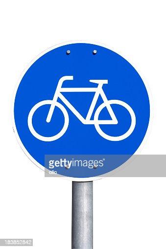 German road sign - bicycle lane, Fahrradweg