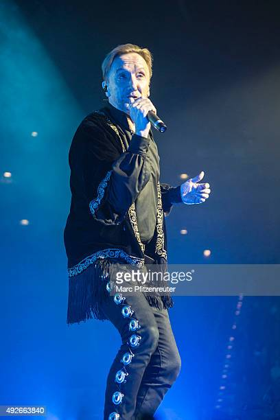 German rock singer Marius MuellerWesternhagen performs onstage at the Lanxess Arena on October 14 2015 in Cologne Germany