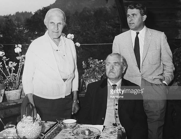 German rocket scientist Wernher von Braun with his parents at their home in Oberaudorf Bavaria 3rd September 1958