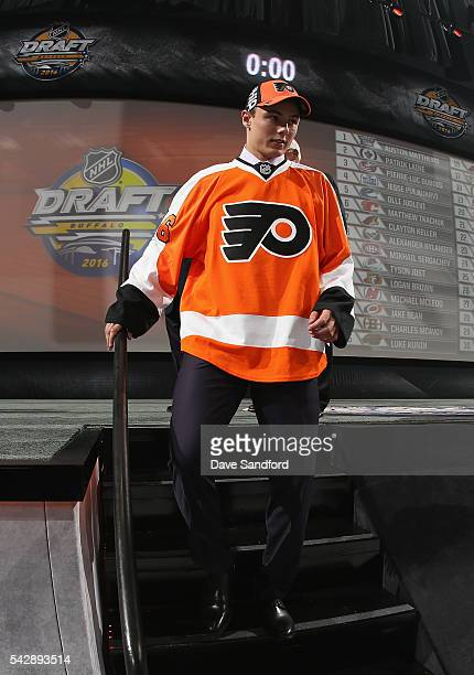 German Rubtsov leaves the stage after being selected 22nd overall by the Philadelphia Flyers during round one of the 2016 NHL Draft at First Niagara...