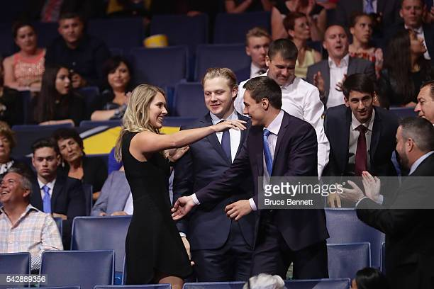 German Rubtsov reacts after being selected 22nd by the Philadelphia Flyers after being picked 22nd during round one of the 2016 NHL Draft on June 24...