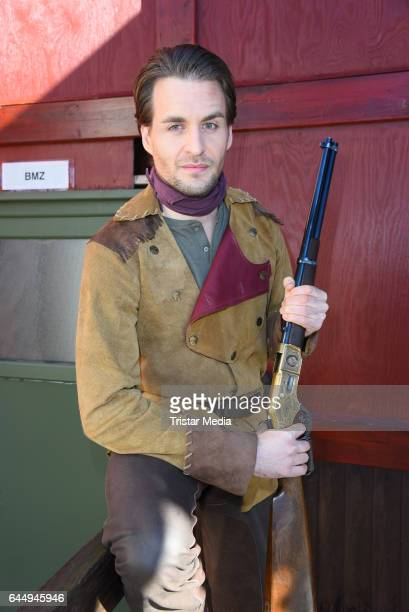 German singer Alexander Klaws attends the 'Old Surehand' photo call for the Karl May Festival on February 24 2017 in Bad Segeberg Germany The Karl...